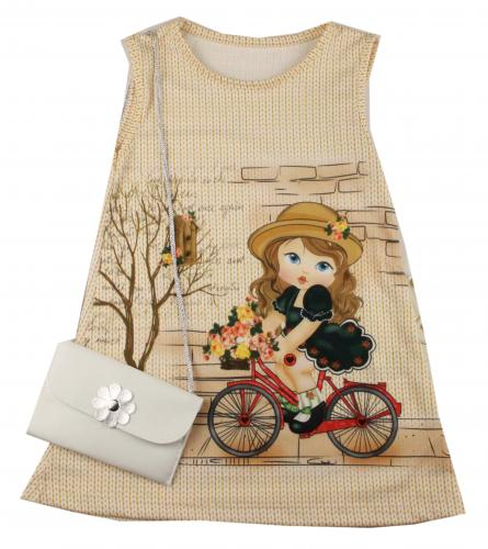 1300525 Платье с сумочкой для девочки рост (92-104-110-116) Турция