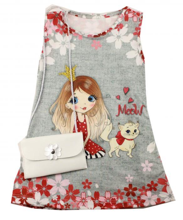 1300526 Платье с сумочкой для девочки рост (92-104-110-116) Турция