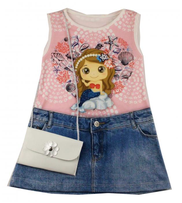 1300527 Платье с сумочкой для девочки рост (92-104-110-116) Турция