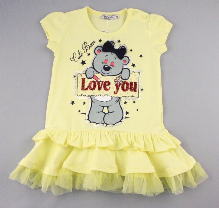1700570 Платье для девочки рост (80-86-92-98-104) Турция
