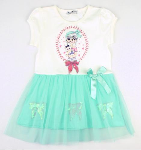1700599  Платье для девочки рост (86-92-98-104-110) Турция
