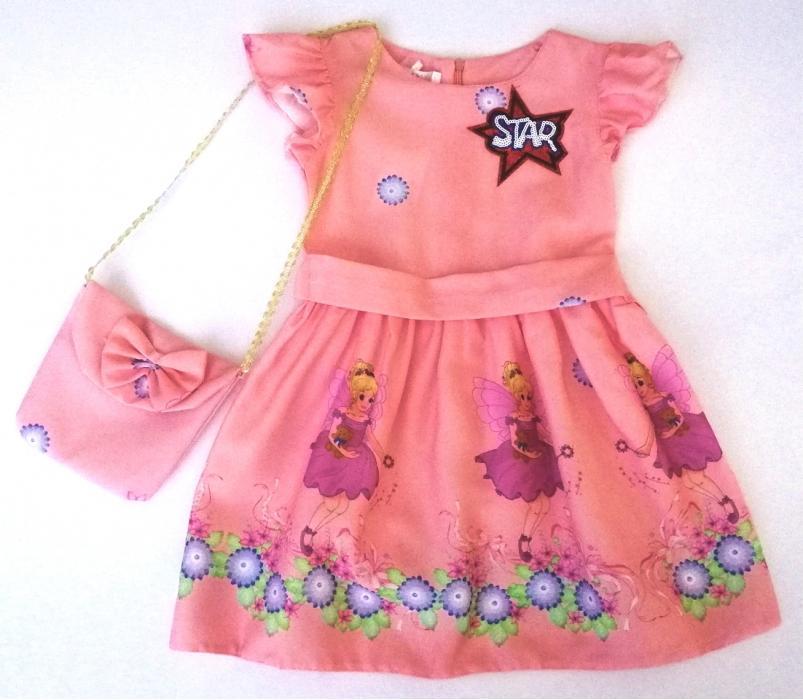 2200133 Платье с сумочкой для девочки рост (98-104-110-116)