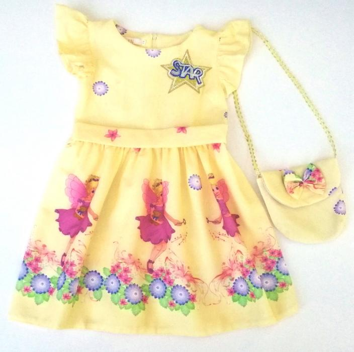 2200134 Платье с сумочкой для девочки рост (98-104-110-116)