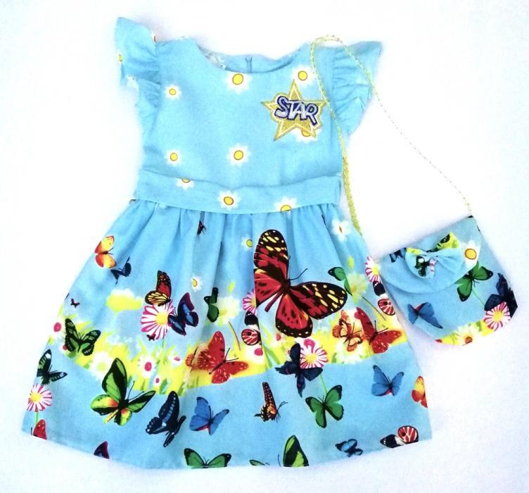 2200135 Платье с сумочкой для девочки рост (98-104-110-116)
