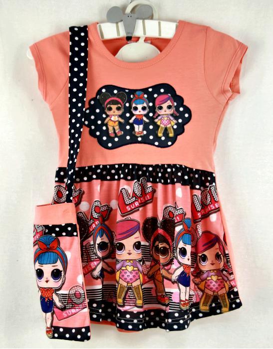 1200150 Платье с сумочкой для девочки рост (98-104-110-116) Турция