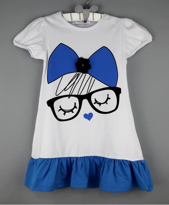 1400118 Платье для девочки рост (104-110-116-122-128-134-140) Турция