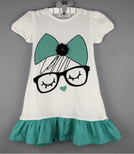 1400119 Платье для девочки рост (104-110-116-122-128-134-140) Турция