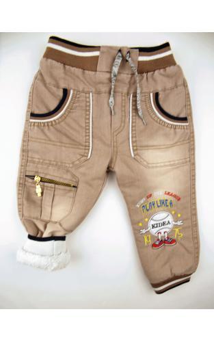 1700331 Утеплённые джинсы для  мальчика рост (98-104-110) Турция
