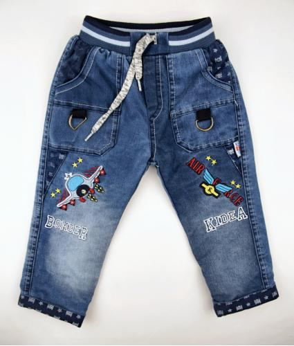 1700332  Утеплённые джинсы для  мальчика рост (98-104-110) Турция