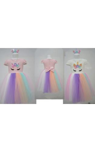 1700355 Нарядное платье для девочки рост (92-98-104-110) Турция