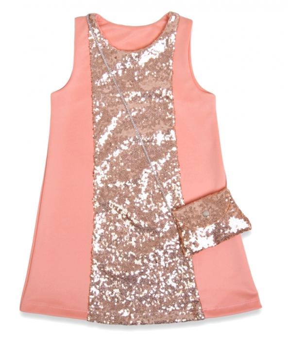 1800225 Платье с сумочкой для девочки рост (110-116-122-128) Турция