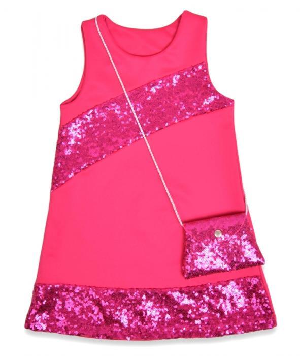 1800226 Платье с сумочкой для девочки рост (110-116-122-128) Турция