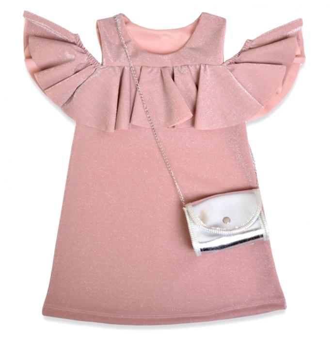 1800227 Платье с сумочкой для девочки рост (110-116-122-128) Турция
